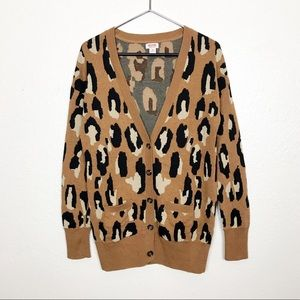 Leopard Print Cozy Cardigan Sweater Size M Mossimo